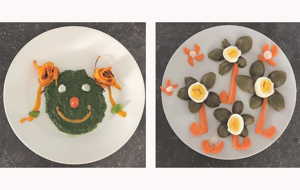 Assiette créative