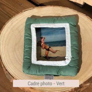 Cadre photo en tissu