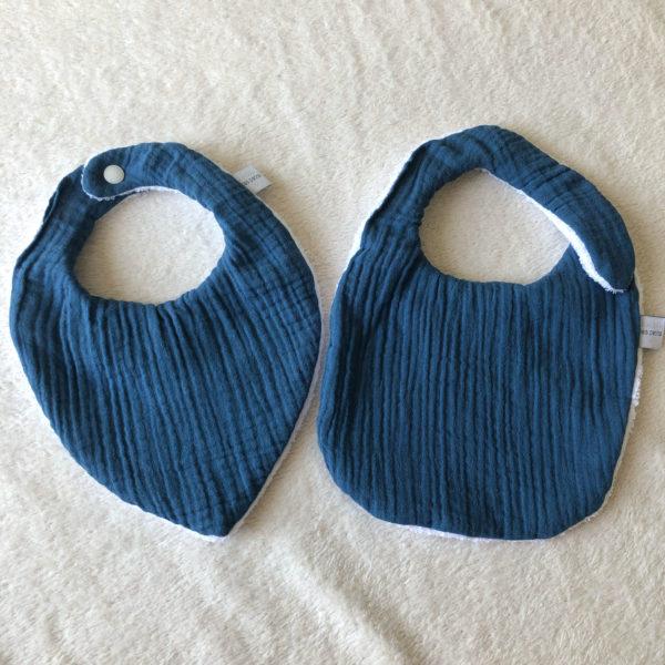 bavoirs-bandan-bébé-bleu-jean-eponge