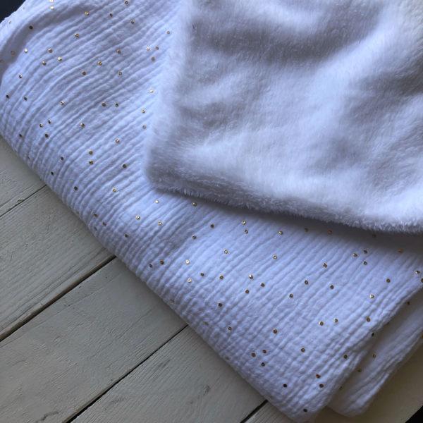 couverture-bebe-blanc-pois